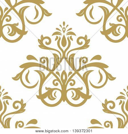 Oriental classic golden ornament. Seamless abstract background with repeating elements