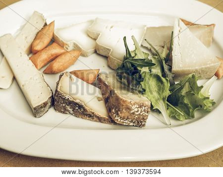 Cheese Platter Vintage Desaturated