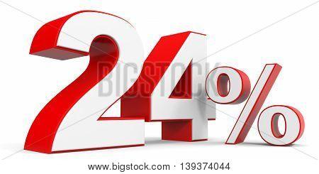 Discount 24 percent off sale. 3D illustration.