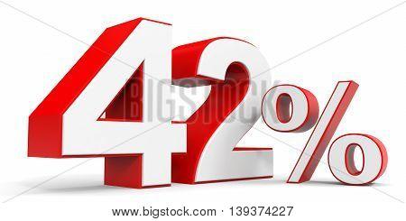 Discount 42 percent off sale. 3D illustration.