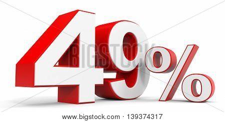 Discount 49 percent off sale. 3D illustration.