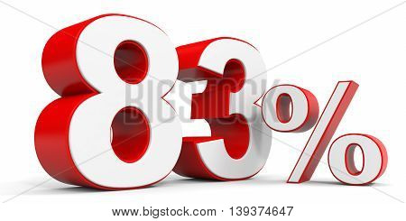 Discount 83 percent off sale. 3D illustration.