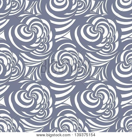 Seamless abstract curl pattern can be used for wallpaper, website background, wrapping paper. Swirl bright pattern. Abstract design.