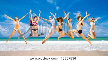 Jumping Wild On a Beach