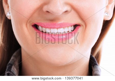 Young woman with perfect teeth, health concept