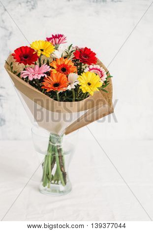 Beautiful gerbera flower. Summer and flowers concept