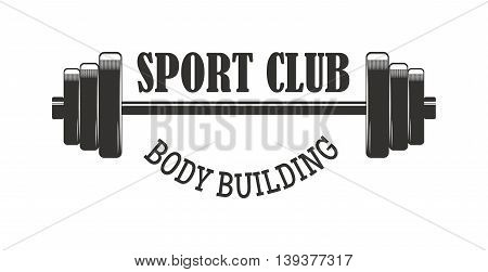 Gym fitness emblem, labels, badges, logo and designed element. Gym fitness logo muscle body weight bodybuilding. Strong people club vector gym fitness logo icon