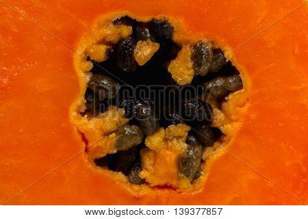 Close up Papaya fruit nature texture background