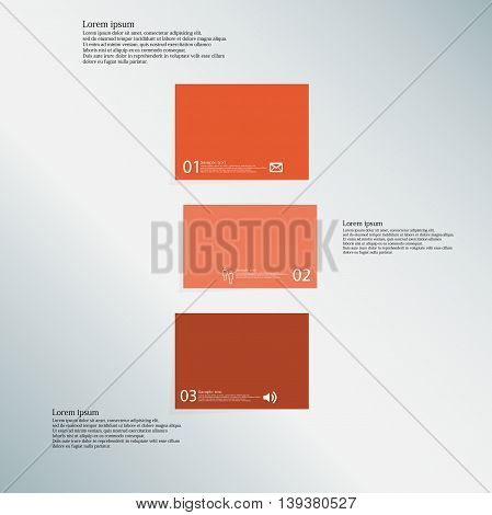Bar Illustration Template Consists Of Three Orange Parts On Blue Background
