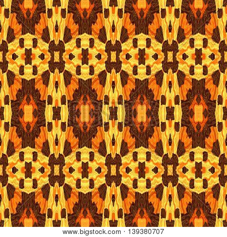 Abstract decorative multicolor (brown, orange) texture - kaleidoscope pattern