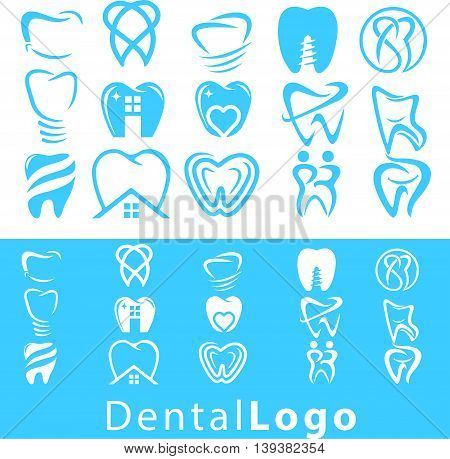 dental logo concept designed in a simple way so it can be use for multiple proposes like logo ,marks ,symbols or icons.
