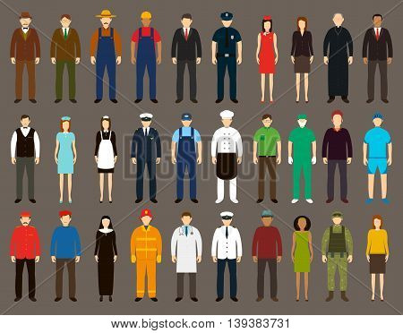 Profession People set. People avatar icons. Vector illustrations