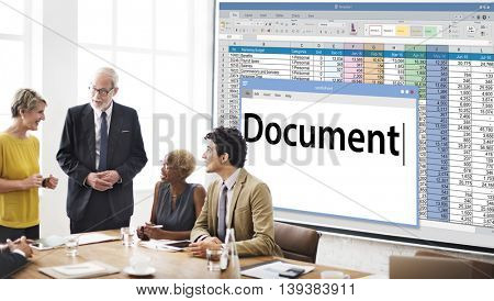 Document Data Paper Database Concept