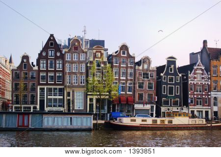 Authentic Amsterdam Houses And Barges