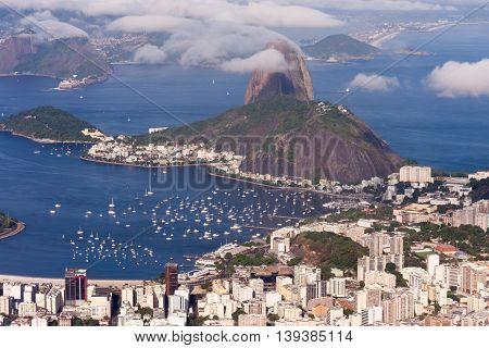 Beautiful Aerial View of Rio de Janeiro, Brazil