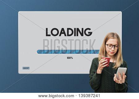 Speed Progress Bar Icon Technology Concept