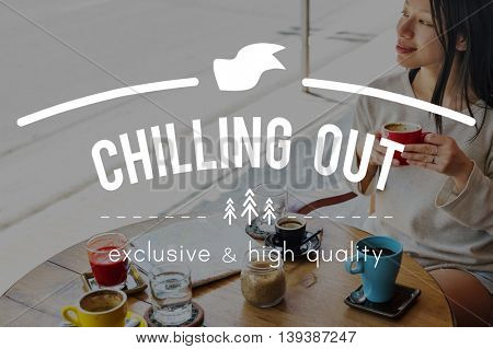 Chilling Out Breakfast Cafe Coffee Concept