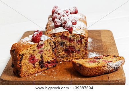 Cake With Raspberry Chocolate