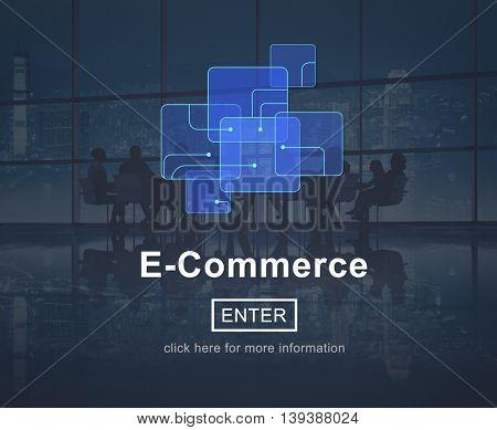 E-Commerce Online Marketing Website Connect Concept