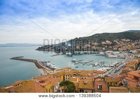 View of Porto Santo Stefano from above