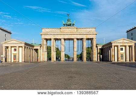 Panorama of the famous Brandenburger Tor in Berlin, Germany