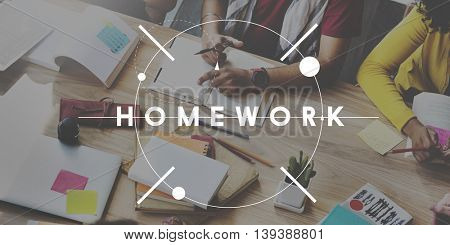 Homework Education College Learning Practice Study Concept