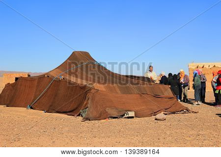 Visiting A Berber Tent In The Sahara Desert Morocco