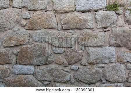 Texture of old stone walls.