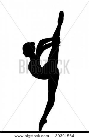 silhouette of a posing balerina