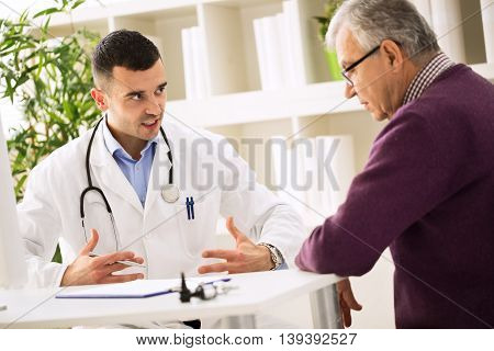 Doctor Explains To Patient About Healthy
