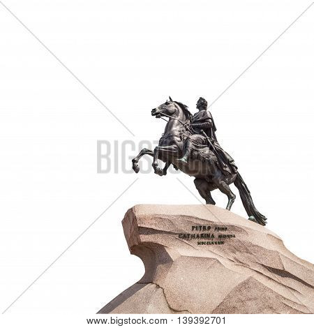 Bronze Horseman - Monument to Peter the Great in Saint Petersburg created by sculptor Falconet (1768