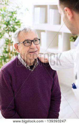 Old Senior Patient Visit Doctor