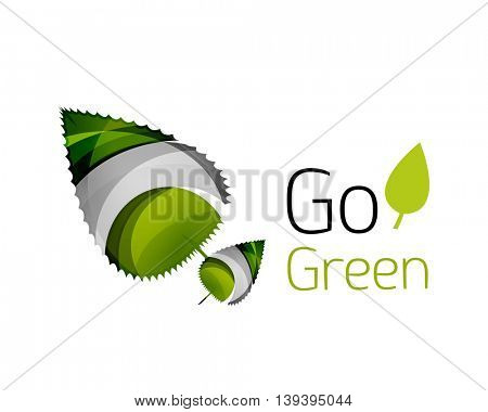 Go green logo. Green nature concept. illustration