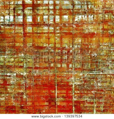 Abstract grunge background or damaged vintage texture. With different color patterns: yellow (beige); brown; gray; red (orange); white