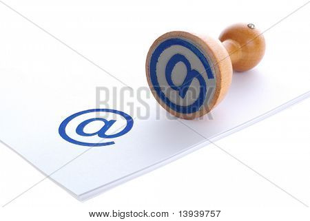 E-MAIL blue rubber stamp