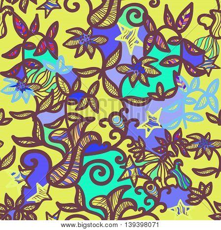 Seamless Pattern An Openwork Yellow. Vector Illustration