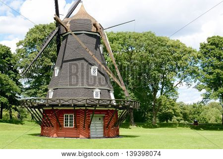 Windmill in Kastellet fortress in Copenhagen, Denmark