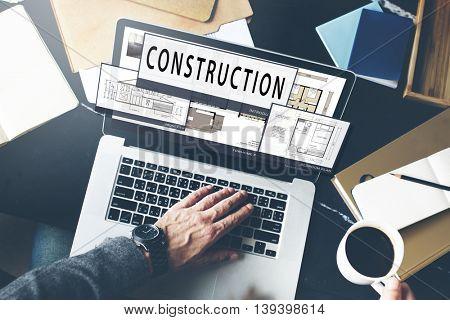 Construction Build Layout Blueprint Creativity Concept