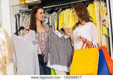 Two Women In A Clothing Store