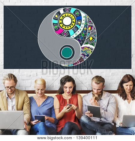 Yin Yang Balance Creativity Religion Concept