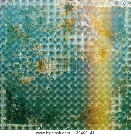 Art vintage texture, decorative grungy background. With different color patterns: yellow (beige); brown; gray; green; blue; cyan