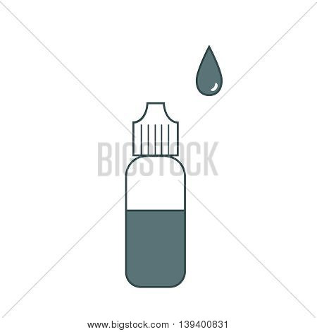 Bottle with e-liquid for electronic cigarettes sign simple icon.