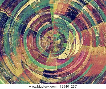 Spherical grunge background for your design, aged shabby texture with different color patterns: yellow (beige); brown; green; blue; red (orange); purple (violet)