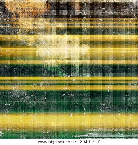 Old grunge vintage background or shabby texture with different color patterns: yellow (beige); brown; gray; green