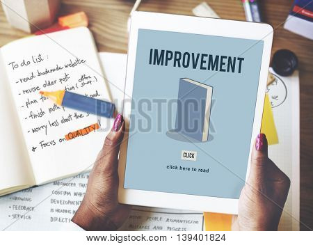 Improvement Education Knowledge Book Study Concept