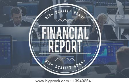 Financial Report Information Resulting Article Concept