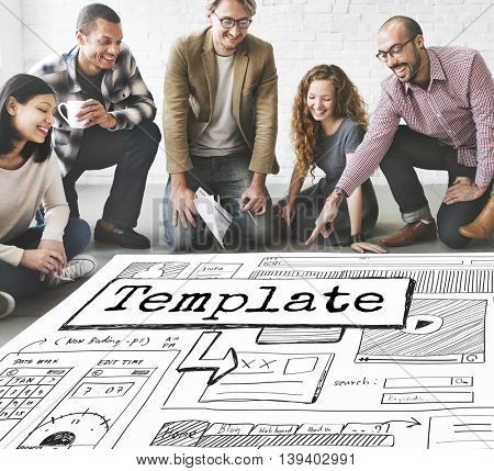 Template Website Design Layout Responsive Concept
