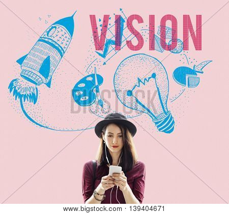Vision Ideas Creativity Imagination Light Bulb Concept