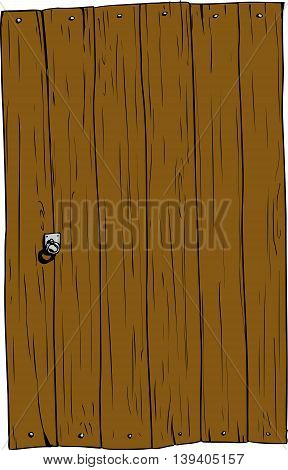 Isolated Rectangular Wooden Door