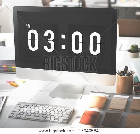 Time And Date Clock Graphic Concept
